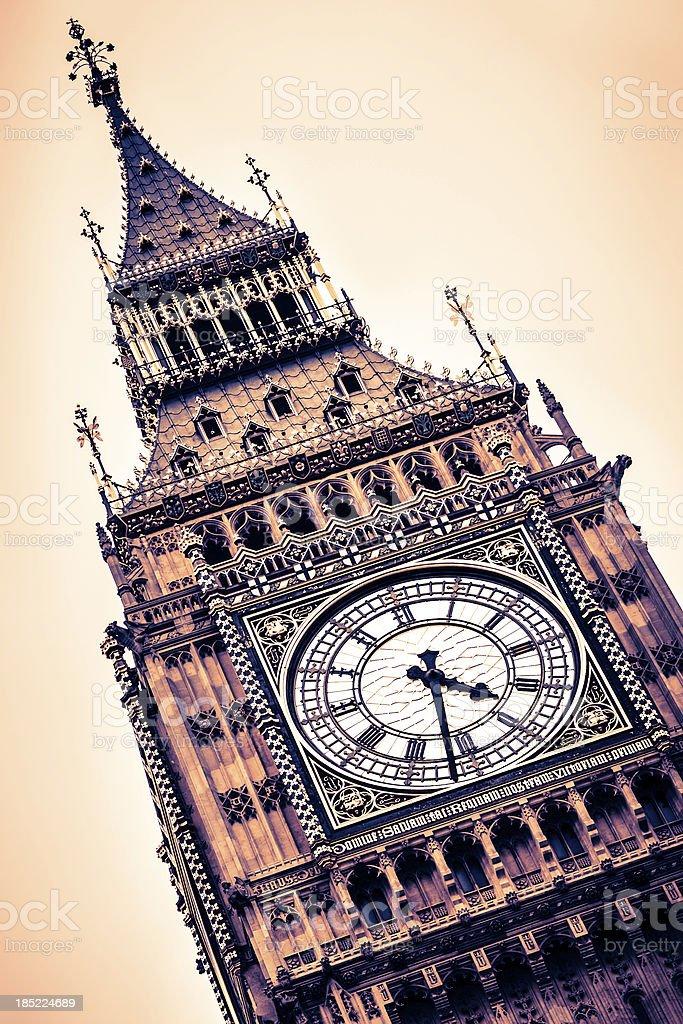 Big Ben Detail, London royalty-free stock photo