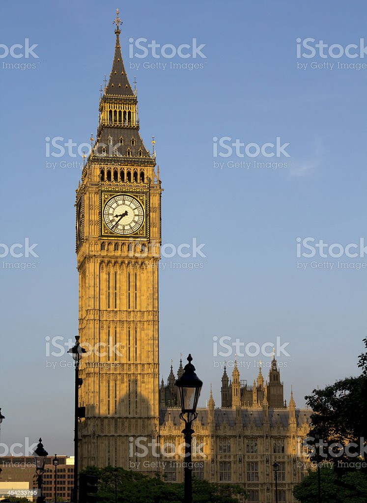 Big Ben early evening before sunset royalty-free stock photo