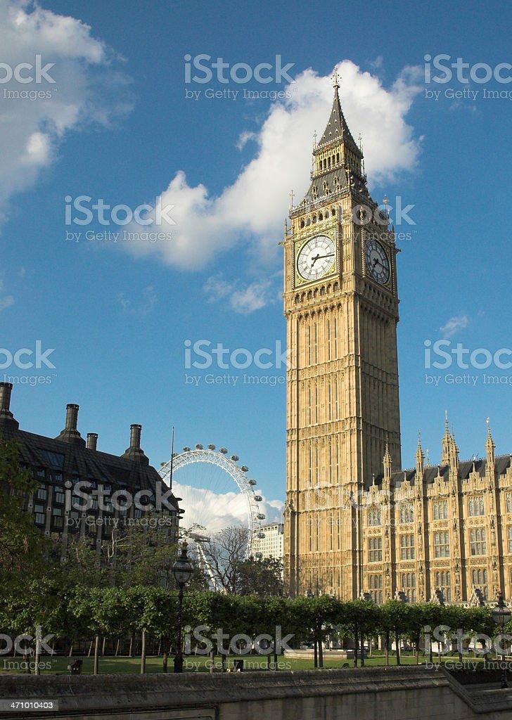 Big Ben, Eye Of London, Parliment royalty-free stock photo