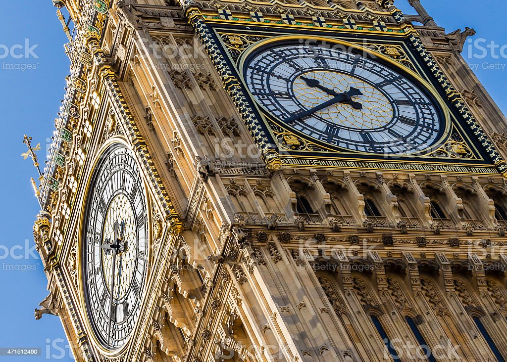 Big Ben, House of Parliament, Westminster, London, UK stock photo