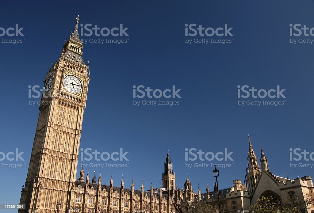 Big Ben, Houses of Parliament in London, England royalty-free stock photo