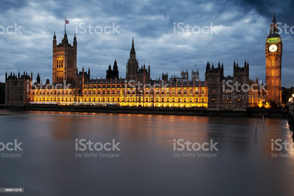 Big Ben Houses of Parliament in London royalty-free stock photo