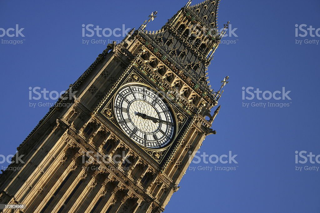 Big Ben - Houses of Parliament in Westminster, London royalty-free stock photo