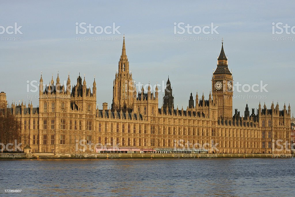 Big Ben - Houses of Parliament London royalty-free stock photo