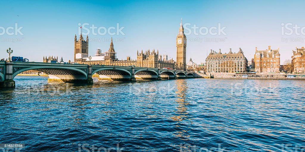 Big Ben - Houses of Parliament One of the most iconic buildings in London, England, and home of UK's government. Architecture Stock Photo