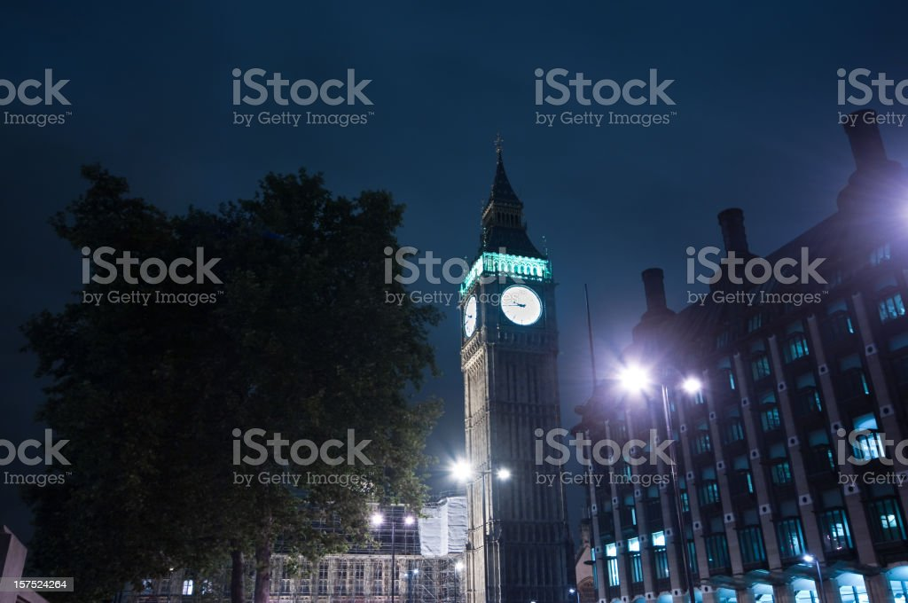 Big Ben in blue royalty-free stock photo