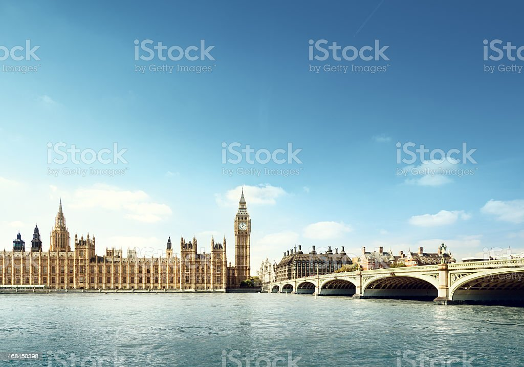 Big Ben in sunny day, London stock photo