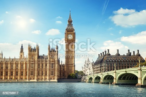 istock Big Ben in sunny day, London 526258817