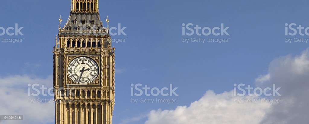 Big Ben in the clouds royalty-free stock photo
