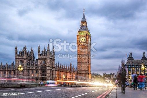 istock Big Ben in the evening, London, United Kingdom 1322254492