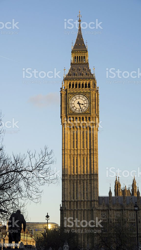 Big Ben in the sunlight royalty-free stock photo