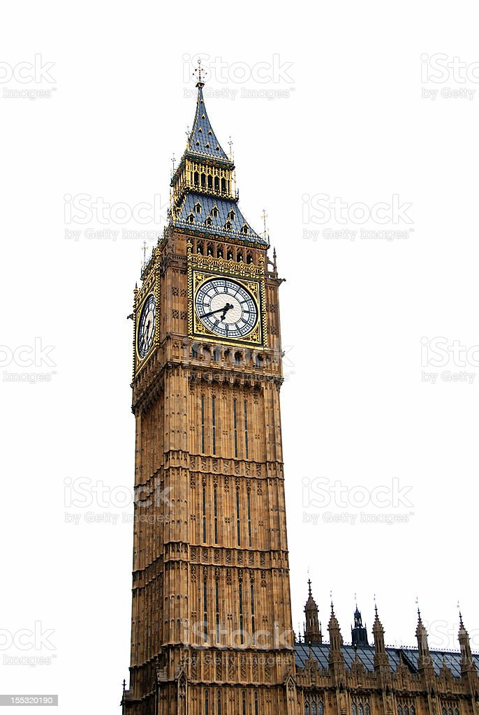 Big Ben isolated royalty-free stock photo