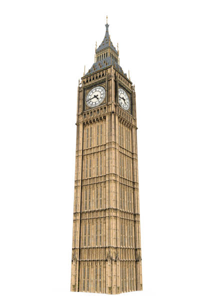 big ben isolated - big ben stock photos and pictures