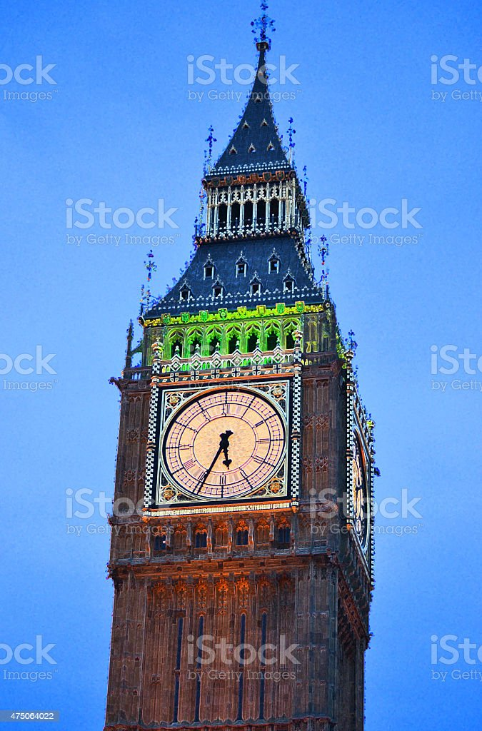 Big Ben Lip Up stock photo