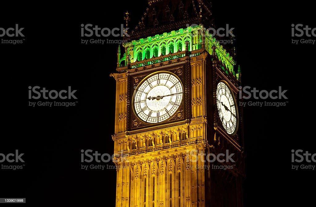 Big Ben, London at night royalty-free stock photo