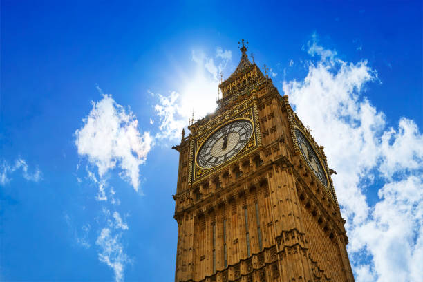 big ben london clock tower in uk thames - big ben stock photos and pictures