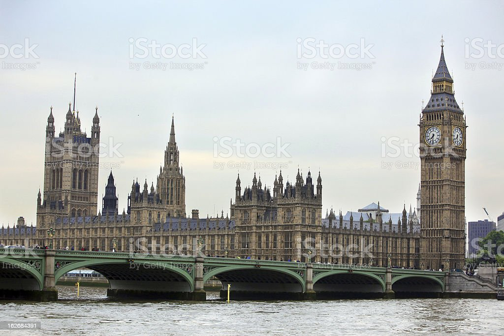 Big Ben, London gothic architecture, UK royalty-free stock photo