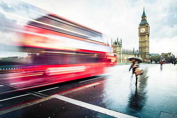 Big Ben an einem regnerischen Tag – Foto