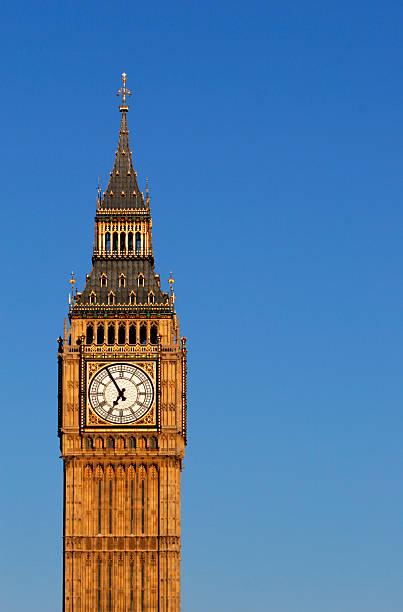 Big Ben on blue stock photo