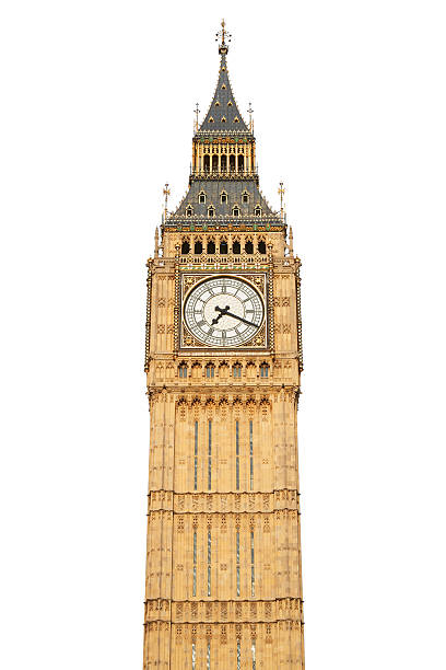 big ben on white - big ben stock photos and pictures