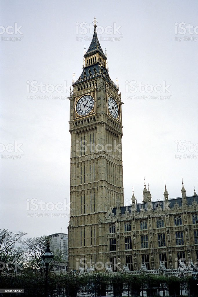 Big Ben, Palace of Westminster, London, England royalty-free stock photo