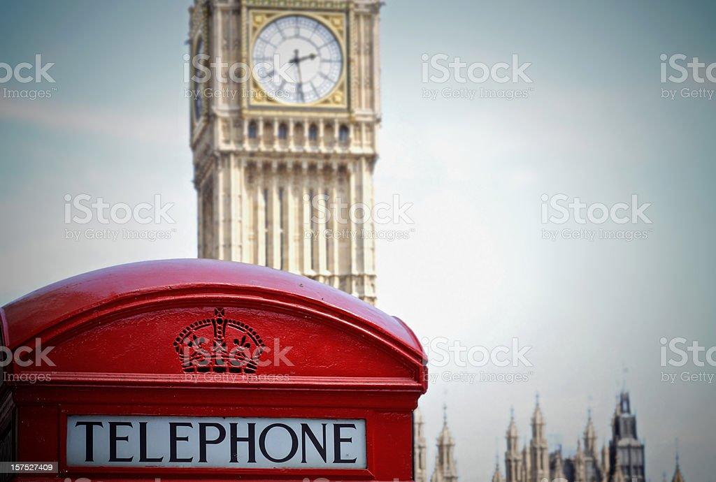Big Ben Phone Booth royalty-free stock photo