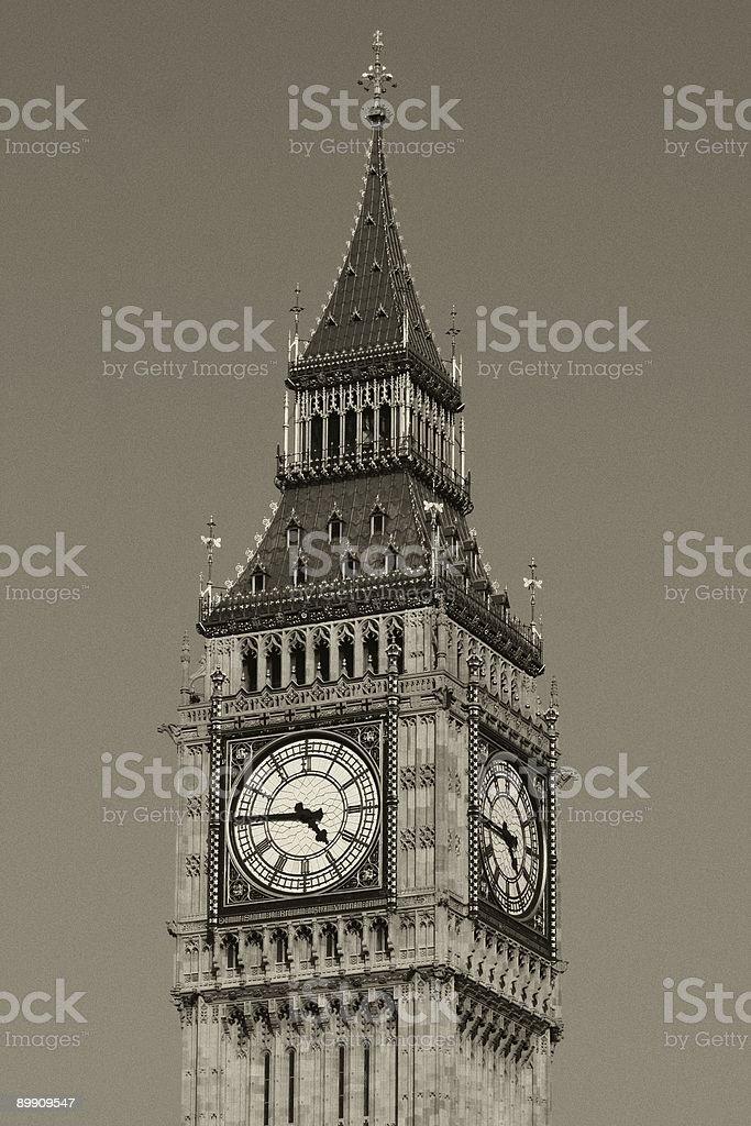 B/W Big Ben royalty-free stock photo