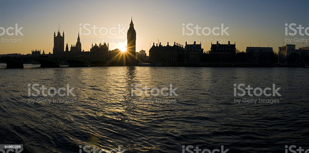 Big Ben sunset London royalty-free stock photo