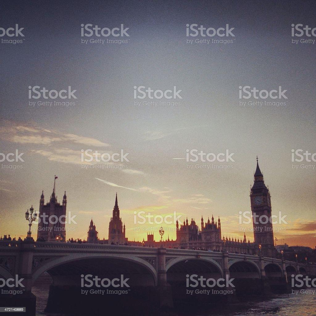 Big Ben Sunset stock photo