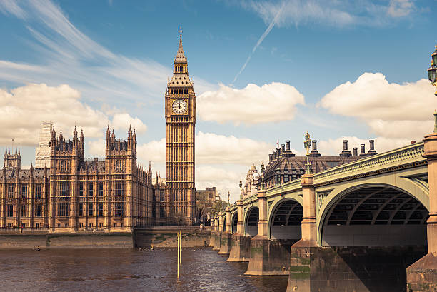 big ben tower on westmister - big ben stock photos and pictures