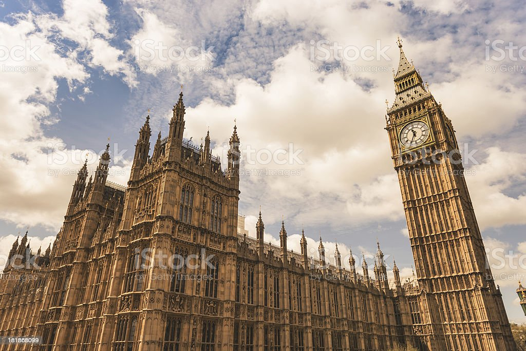 Big Ben tower on Westmister royalty-free stock photo