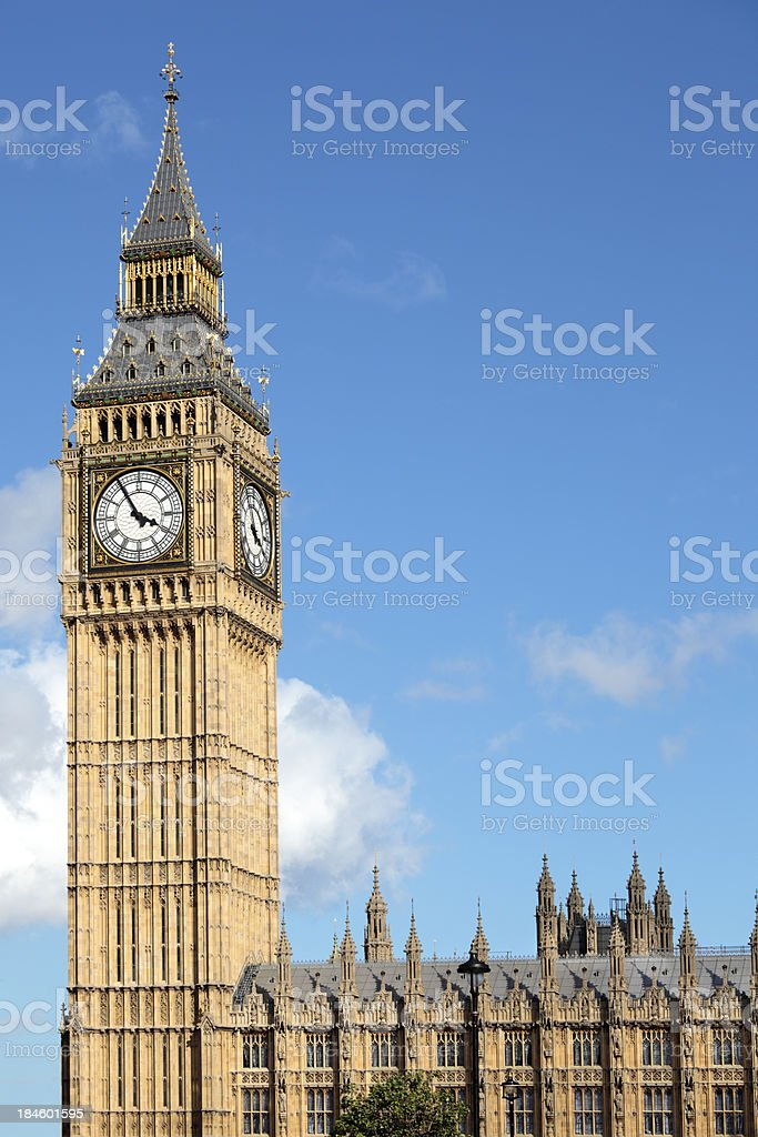 Big Ben view from Parliament Square royalty-free stock photo