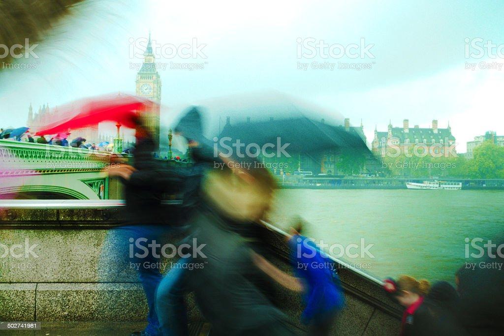 Big Ben Westminster Bridge, London royalty-free stock photo