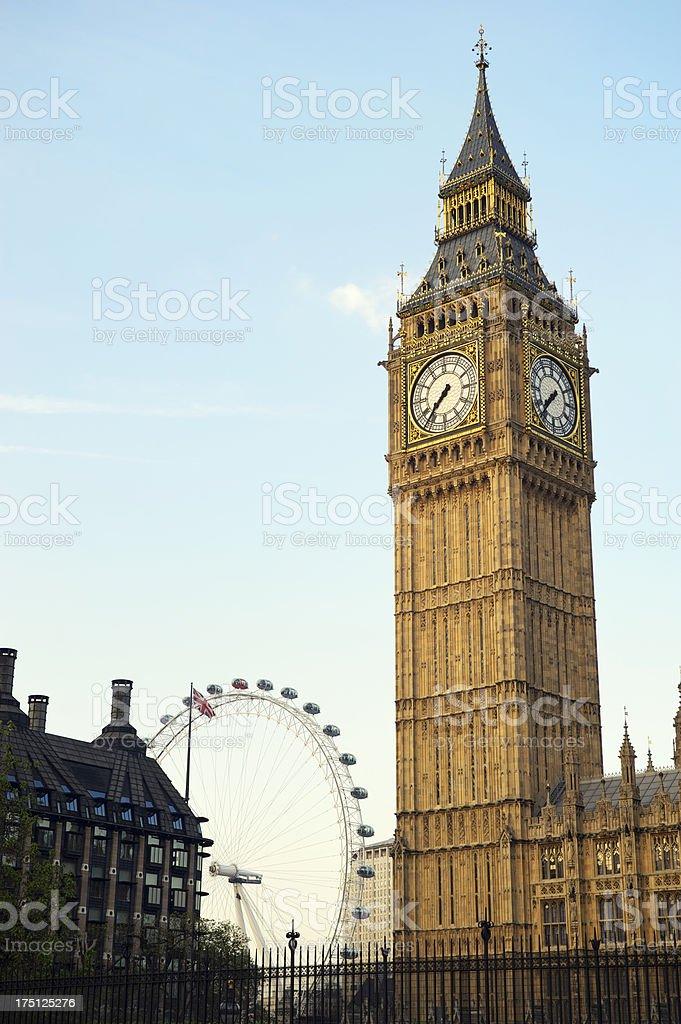 Big Ben Westminster Palace London UK Vertical royalty-free stock photo