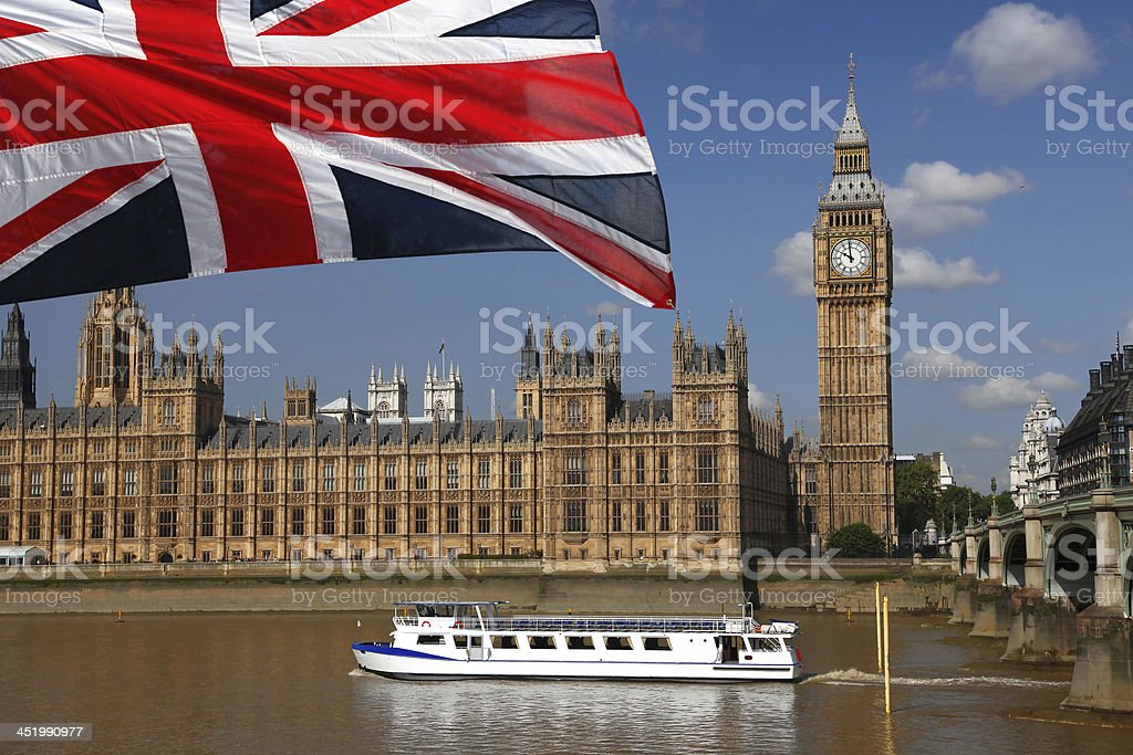 Foto de O Big Ben Com Bandeira De Inglaterra Londres Reino Unido e ... e165e3e6ec060