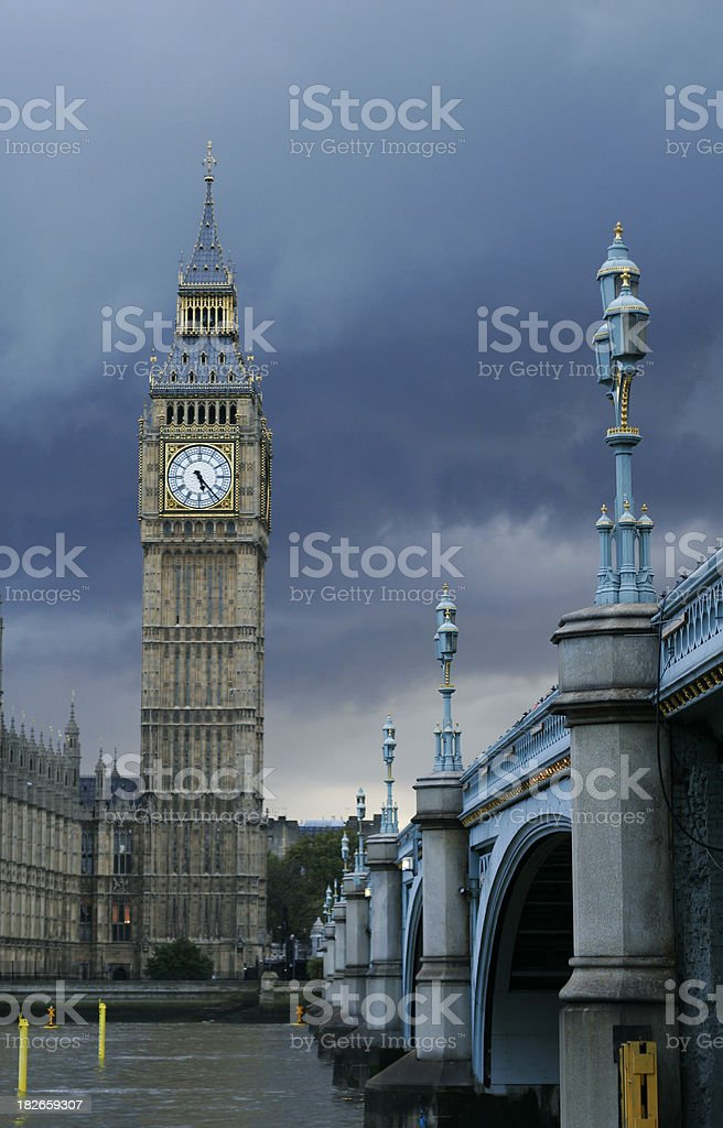 Big Ben with storm clouds royalty-free stock photo