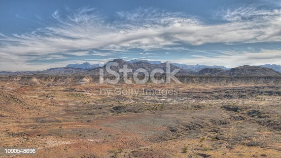 View of the mountains in Big Bend National Park near the Texas Border with Mexico