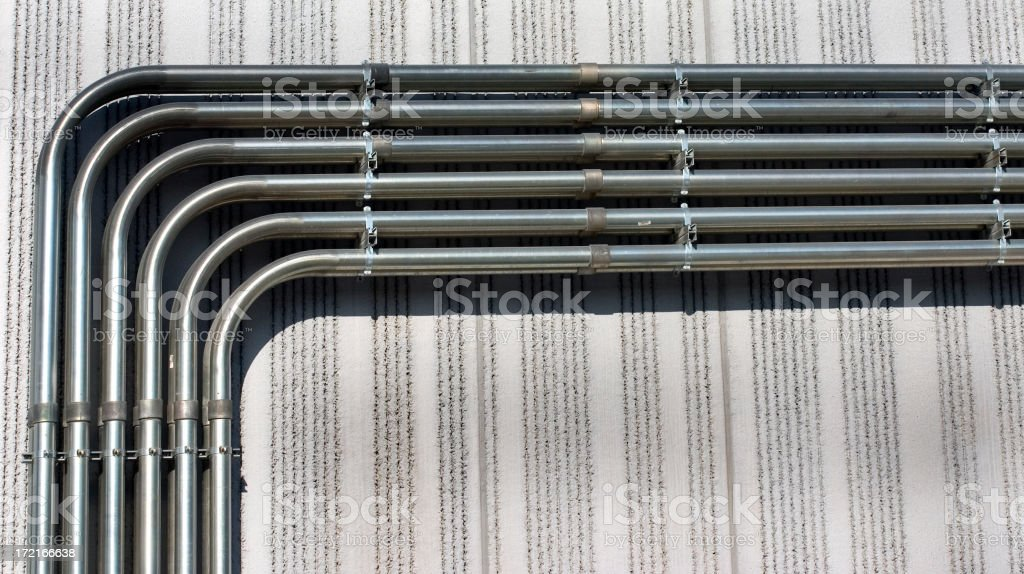 big bent conduit stock photo