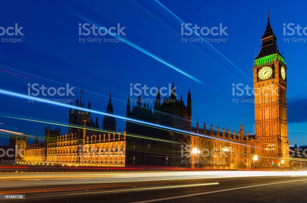 Big Ben:Traffic through London royalty-free stock photo
