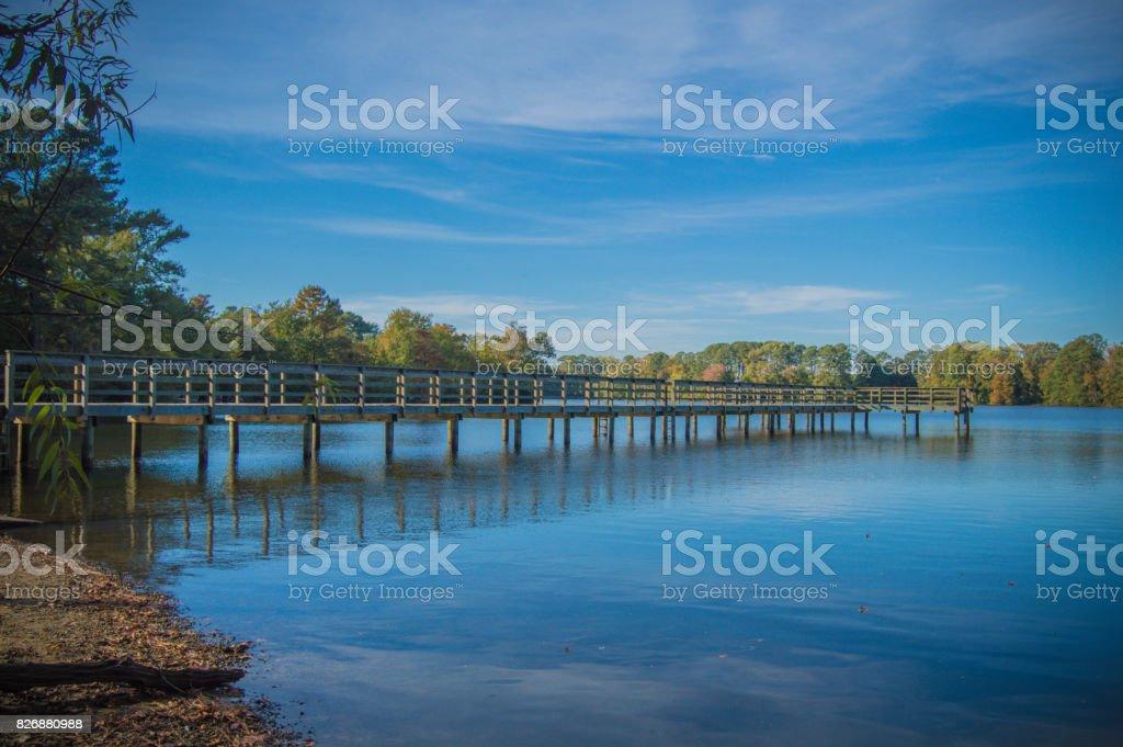 Big Bethel Reservoir Virginia stock photo