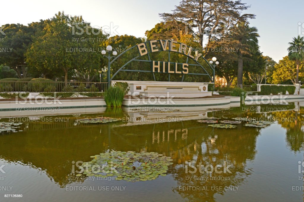 Big Beverly Hills Sign in Los Angeles stock photo