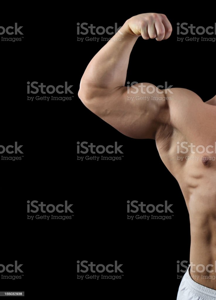 Big biceps royalty-free stock photo