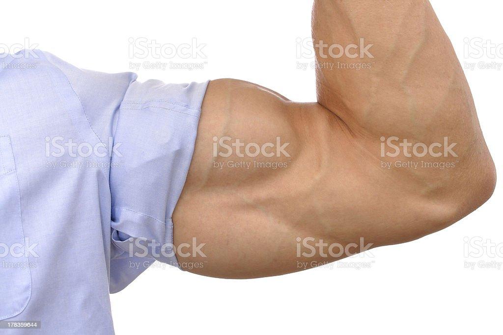 Big biceps stock photo