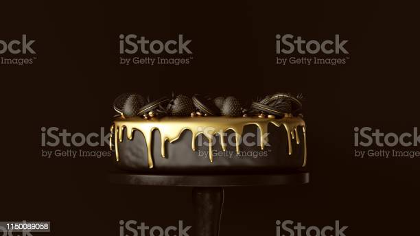 Big black and gold luxury cake with strawberries and round biscuits picture id1150089058?b=1&k=6&m=1150089058&s=612x612&h=nooftzgz6awh3zvukzj4ryo4pcb m5kfinyz9iegdie=