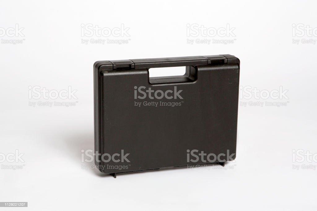 big black plastic case stock photo
