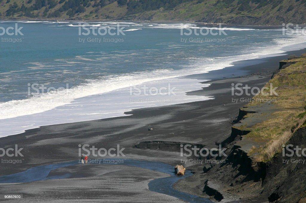 Big Black Sands Beach Hiking stock photo