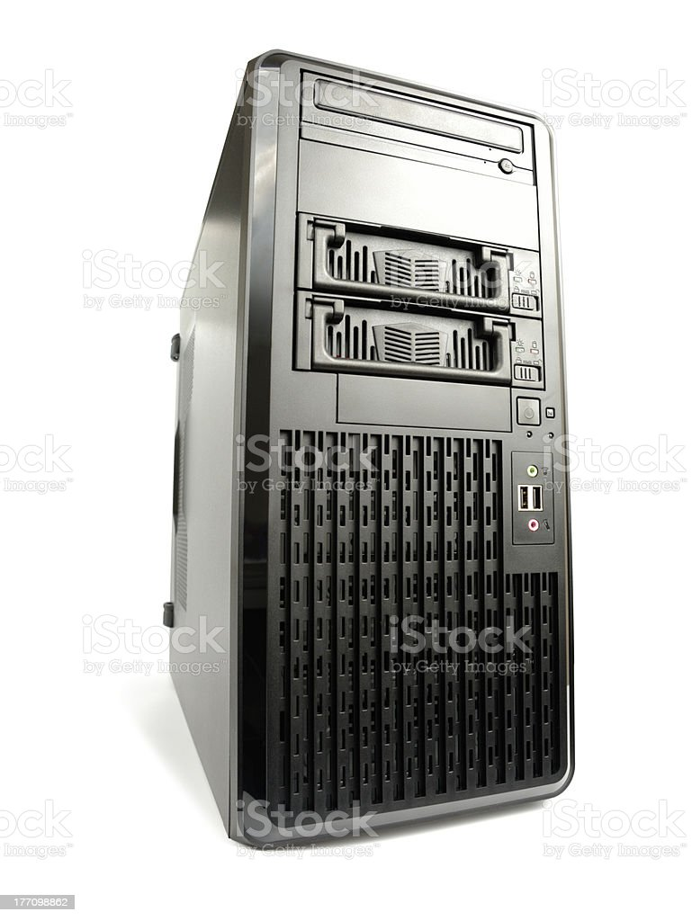 Big Black Server royalty-free stock photo