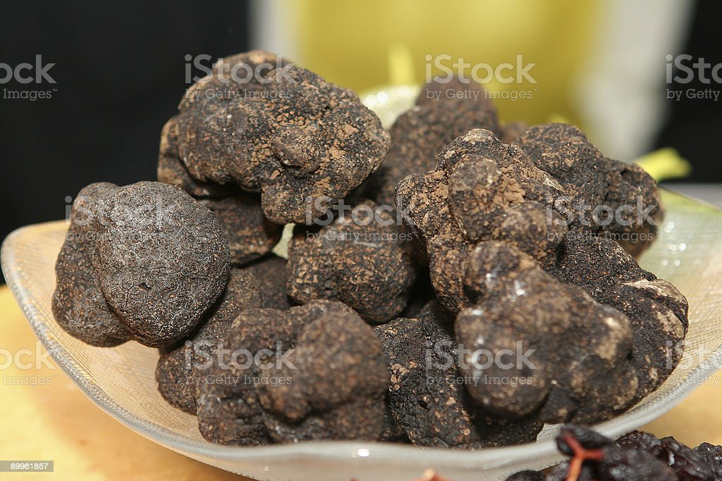 Big Black Truffles royalty-free stock photo
