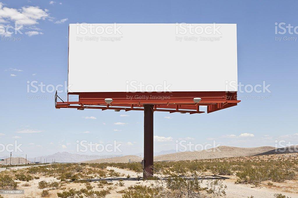 Big Blank Desert Billboard stock photo