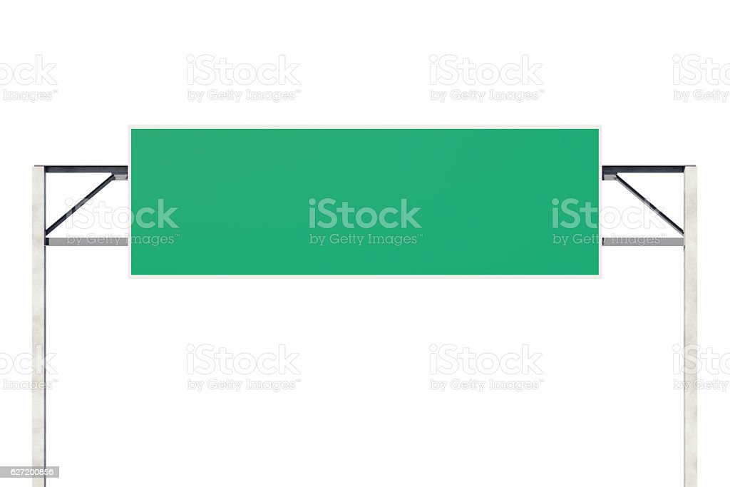 Big blank road sign stock photo